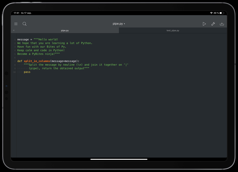 Pythonista Intro image